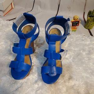 Breckelles Platform Strappy Heels